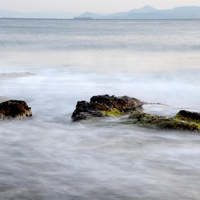 playing with sea, rocks and shutter speed ;) by Pantelis Orfanos - Landscapes Waterscapes