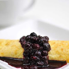 Gluten Free Ricotta Crepes with Blueberry Sauce