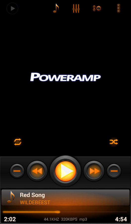 Mad Jelly Amber Poweramp Skin Screenshot