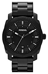 Fossil 'Machine' Bracelet Watch, 42mm