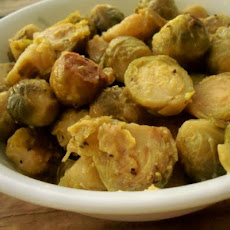 Slow Cooker Dijon Brussels Sprouts