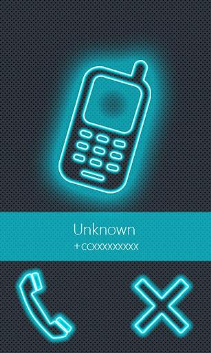 BIG caller ID Theme NeonBlue