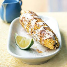 Grilled Mexican Corn with Crema