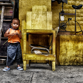 My Home by Ferdinand Ludo - Babies & Children Child Portraits ( home, sunday lazy blues, backyard, kid )