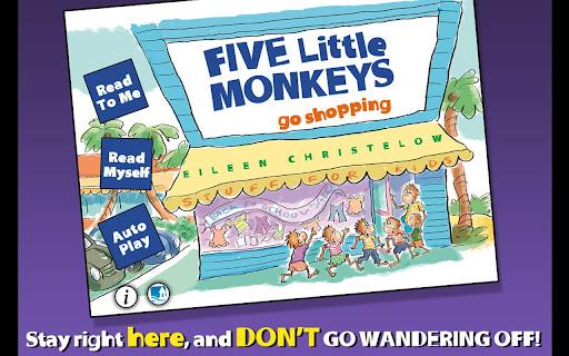 5 Monkeys Go Shopping