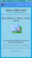 Screenshot of Namso CCGen Card Gold