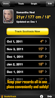 Screenshot of ScolioTrack