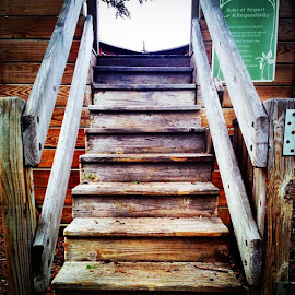by Lori Broussard - Instagram & Mobile Instagram ( stairs, steps, wood, lumber, myphotography, digital, stilllife, canon )