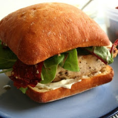 Chicken Sandwiches with Goat Cheese and Pesto