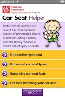 Screenshot of Car Seat Helper