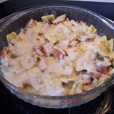 Alfredo Tortellini and Chicken