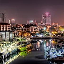 night city view  by Muhamad Zaki - Landscapes Travel ( lights, buildings, night, cityscape, landscape )