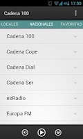 Screenshot of Radios de España (Spain)