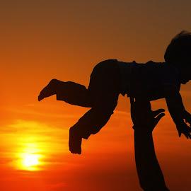 by Maja  Marjanovic - Babies & Children Children Candids ( child, sunset, candids, children, candid )