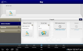 Screenshot of RMB Private Bank Tablet App