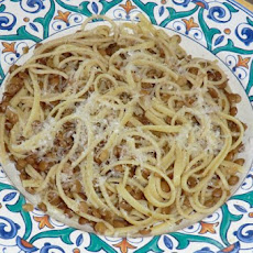 Linguine With Lentils Simmered In White Wine
