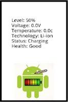 Screenshot of Battery Checkup Status