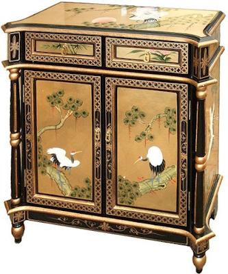 acheter meuble d 39 entr e chinois colonnes laque d 39 or