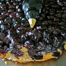 Blueberry Crow's Nest: when the topping flies south