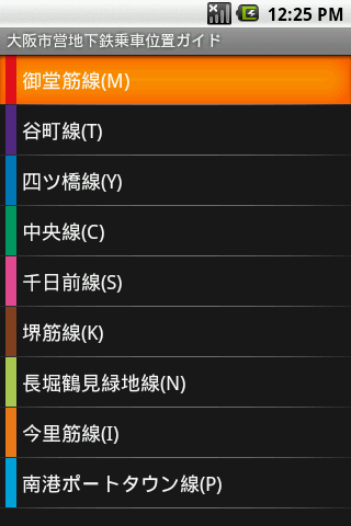 大阪市営地下鉄乗車位置ガイド