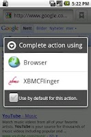 Screenshot of XBMCFlinger