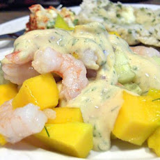 Shrimp Mango and Cucumber Salad