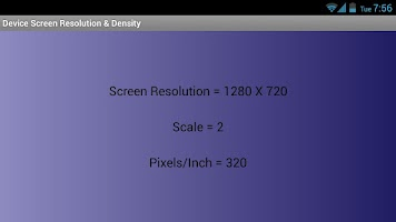 Screenshot of Screen Resolution & Density