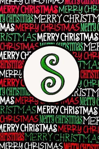 聖誕節的Monogram小號現場可濕性粉劑