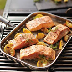 Grilled Salmon with Lemon and Dill
