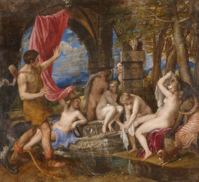 Titian Acteon and Diana