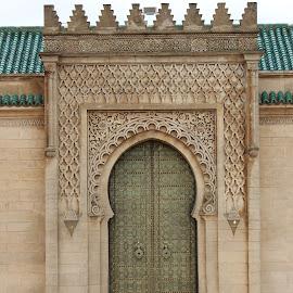 Royal door in Rabat by Neža Kompare - Buildings & Architecture Architectural Detail ( rabat, details, royal, ornament, door, morocco )