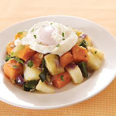 Root Vegetable Hash with Poached Egg
