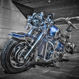 Töckfors, Sweden by IP Maesstro - Transportation Motorcycles ( sweden, cutout, bike, hdr, selective, töckfors, transport, motorcycle, maesstro, selective color, pwc )