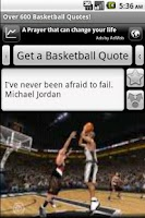 Screenshot of Basketball Quotes