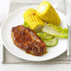 BBQ pork steaks with smoky corn