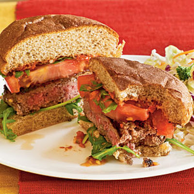Lamb Burgers with Sun-Dried Tomato Aioli