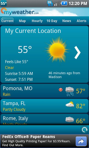 myweather-mobile for android screenshot