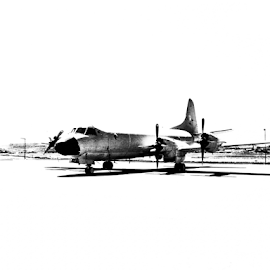 Avião by Florindo Silva - Transportation Airplanes ( black and white, airplane, black & white, transportation )