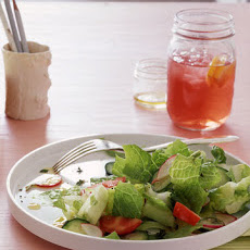Garden Salad with Yogurt Cheese