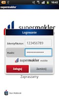 Screenshot of supermakler mobile