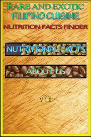 Pinoy Cuisine Nutrition Facts