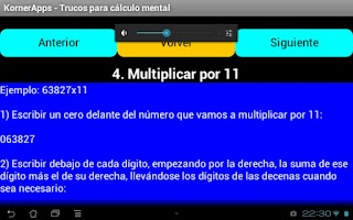 Screenshot of Trucos cálculo mental