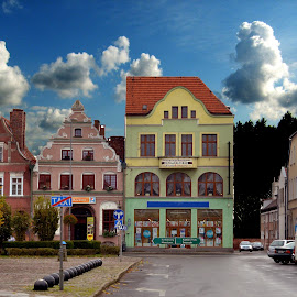Poland is beautiful by Dorota Grolewska - Buildings & Architecture Homes ( small buildings nice colorful sky )