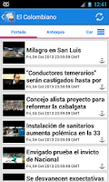 Screenshot of Colombia Noticias