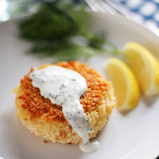Smoked Salmon Potato Cakes with Herb Crème Fraîche