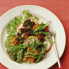 Green Salad with Roast Chicken and Sweet Potato