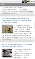 Screenshot of Diario Uno Mendoza