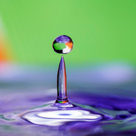 colorful drops... by Hale Yeşiloğlu - Abstract Water Drops & Splashes ( water drops, waterdrop, colorful, drops, multicolored )