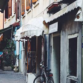 Street scene by Kseniya Maksimenko - City,  Street & Park  Street Scenes ( town )