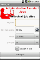 Screenshot of Administrative Assistant Jobs